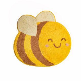 small bee shaped kids rug