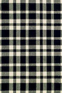 Tattersall Black Cotton Woven Rug