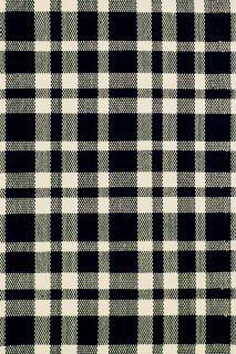 Tattersall Black Cotton Woven Runner 76x244cms