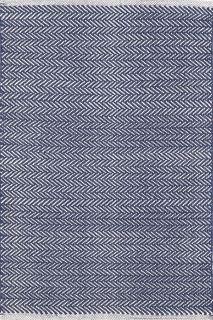 Herringbone Indigo Cotton Woven Runner 76x244cms