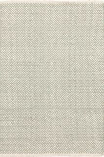 Herringbone Ocean Cotton Woven Rug