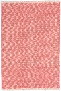Herringbone Coral Woven Cotton Rug