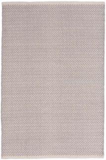 Herringbone Dove Grey Woven Cotton Runner 76x244cm