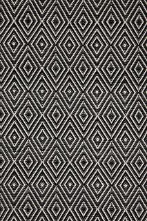 Diamond Black Ivory Indoor/Outdoor Rug