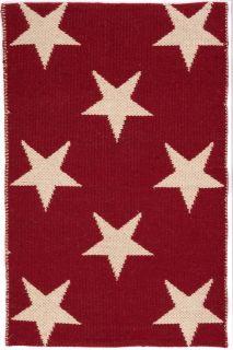Star Red/Ivory Indoor/Outdoor PET Rug