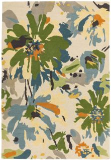 multicolour floral rug