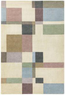 multicolour geometric rug
