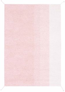 reversible textured rug in pink and ivory with ombre design