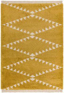yellow moroccan style rug