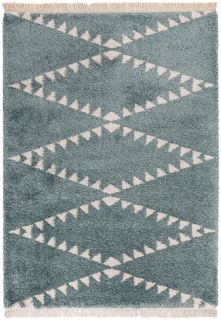 blue moroccan style rug