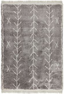 grey moroccan style rug
