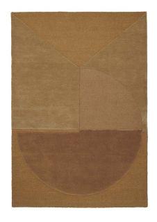 mustard geometric rug
