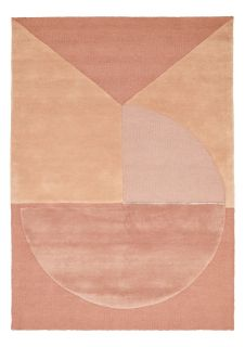 pink geometric rug