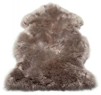 genuine brown sheepskin rug
