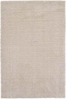 plain beige shaggy area rug