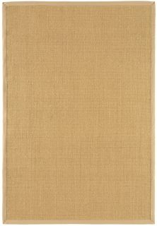 beige sisal rug with a beige border
