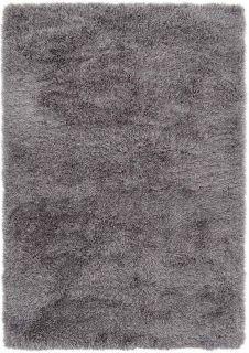 plain ash shaggy rug