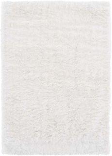 plain white shaggy rug