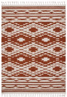 terracotta moroccan style rug