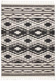 black moroccan style rug