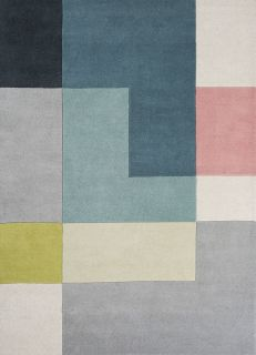 geometric rug in multicolour