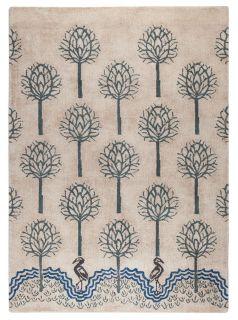 V&A Heron Natural/Blue Rug