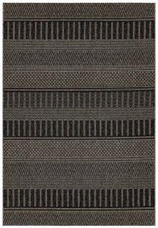 moroccan style indoor/outdoor rug in black
