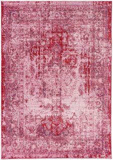 Pink distressed-look rug