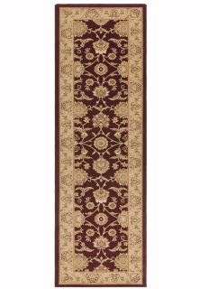 red and beige runner with a classic oriental pattern