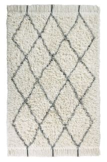 lorena canals washable rug with a moroccan berber pattern in beige