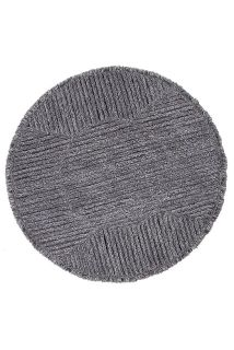 round charcoal grey lorena canals rug