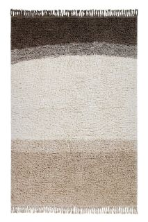 lorena canals washable wool rug with a simple block design in grey and beige