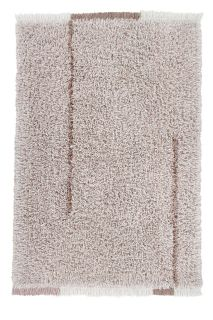 bohemian lorena canals woolable rug with a simple abstract design in beige