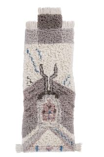 Fluffy Lorena Canals Woolable runner with a bohemian tribal design in beige