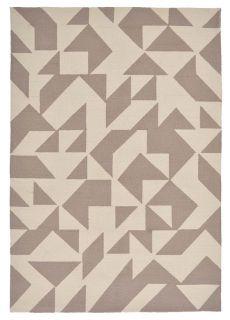 geometric indoor/outdoor rug in beige