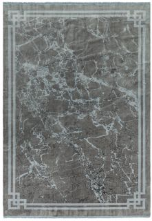 abstract silver rug