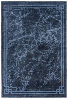 blue bordered rug