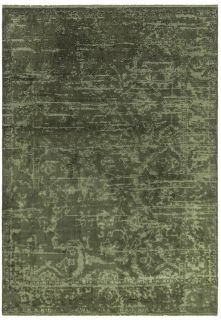 abstract green persian style rug